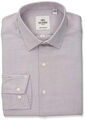 Ben Sherman Men's Twill Dobby Soho Spread Fit Dress Shirt