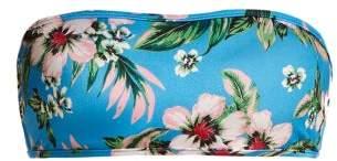 Diane von Furstenberg Bandeau Strapless Bikini Top - Womens - Blue Print