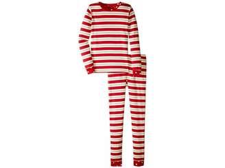 Hatley Metallic Striped Holiday Organic Cotton Pajama Set (Toddler/Little Kids/Big Kids)