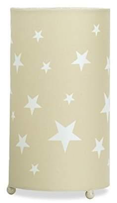 BEIGE Aratextil Martina Table Lamp, Polyester/Cotton, Beige, 24.5x13 cm