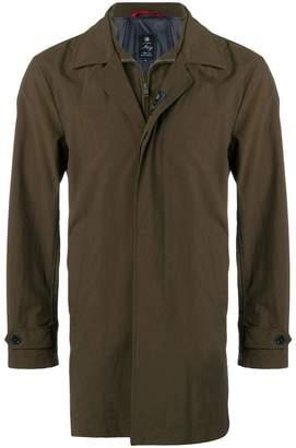 Fay layered single-breasted coat