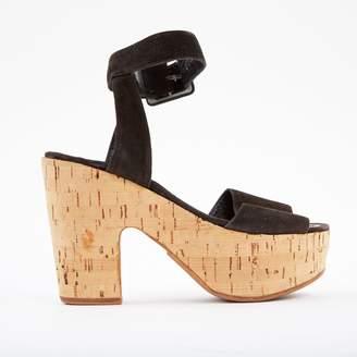 Chanel Brown Suede Sandals