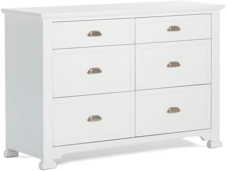 Child Craft Roland 6-Drawer Double Dresser in Matte White