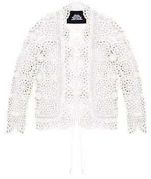Marc Jacobs Women's Redux Grunge Crochet Cotton Cardigan