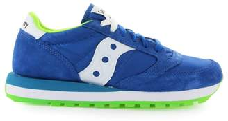 Saucony Jazz Blue Lime Green Sneaker