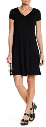 Cable & Gauge V-Neck Crisscross Back Solid Dress (Petite) $68 thestylecure.com