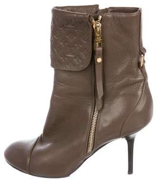 Louis Vuitton Leather Mid-Calf Boots