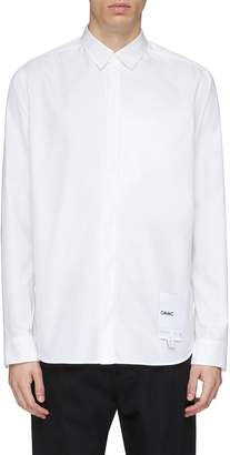 Oamc Logo tag chest pocket Oxford shirt