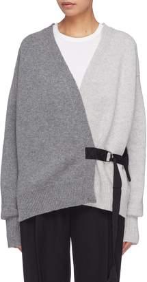 LA FETICHE 'Lou Lou' belted colourblock cardigan