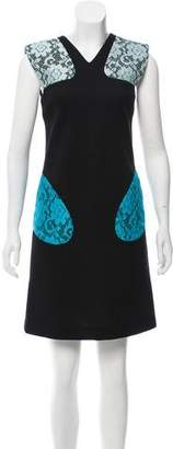Christopher Kane Lace Trim Mini Dress