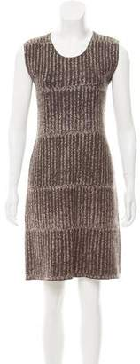 Calvin Klein Collection Sleeveless Knit Jacquard Dress