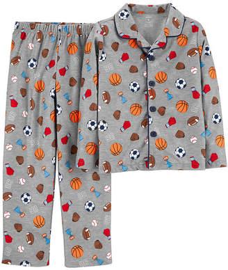Carter's Button Front Top & Pant 2-Pc. Pajama Set - Preschool Boys