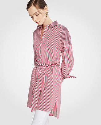Ann Taylor Striped Belted Tunic