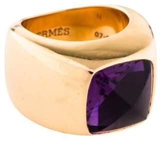 Hermes 18K Amethyst Cocktail Ring