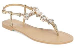 Bella Belle Luna Embellished T-Strap Sandal