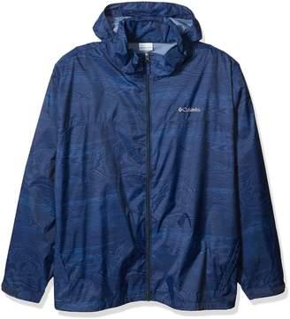 Columbia Men's Glennaker Lake Big & Tall Printed Rain Jacket, Collegiate Navy Wood, 2XT