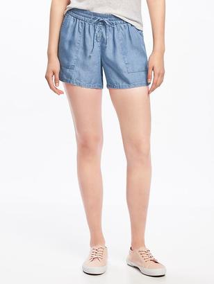 "Mid-Rise Soft Tencel® Shorts for Women (4"") $22.94 thestylecure.com"