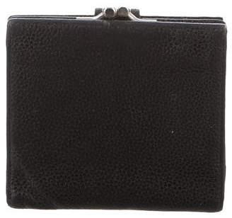 Longchamp Grain Leather BIfold Wallet