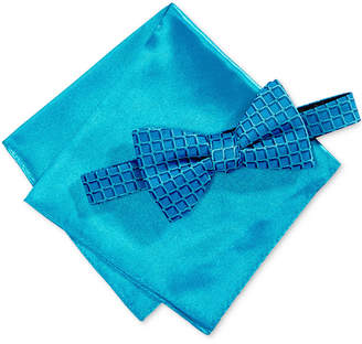 Alfani Men's Geometric Pre-Tied Bow Tie & Pocket Square Set, Created for Macy's