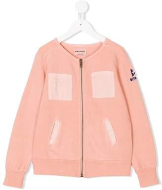 Bobo Choses text print zipped sweatshirt