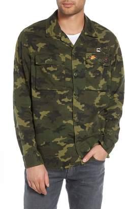 The Kooples Denim Camo Shirt Jacket