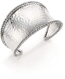 John Hardy Women's Classic Chain Hammered Sterling Silver Cuff Bracelet