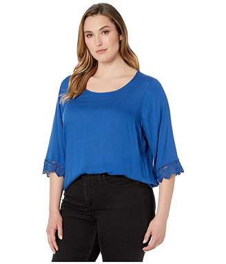 Junarose Plus Size Djanilla 3/4 Sleeve Blouse