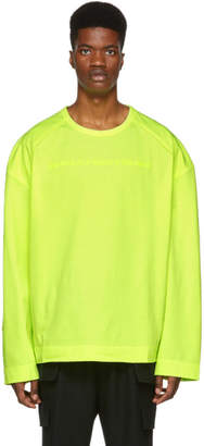 Juun.J Yellow Embroidered Long Sleeve T-Shirt