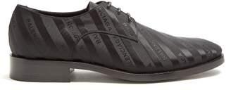 Balenciaga Logo Jacquard Derby Shoes - Mens - Black