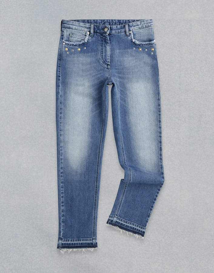 Venmore Studded Jeans Blue