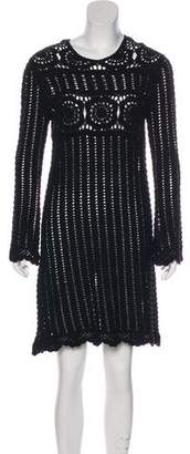 Isabel Marant Long Sleeve Scoop Neck Dress