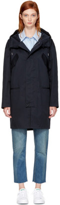 A.P.C. Navy Cornwall Parka $645 thestylecure.com