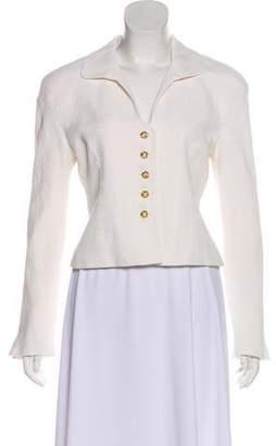Christian Dior Long Sleeve Button-Up Blazer
