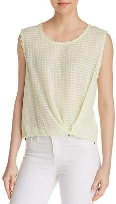 Splendid Knot Detail Frayed Tank