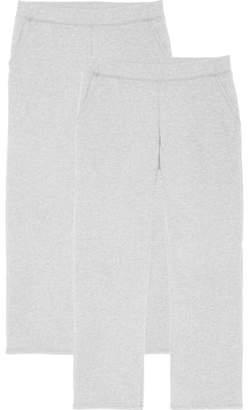 Time and Tru Women's Essential Fleece Open Bottom Fleece Sweatpant (2-pack)