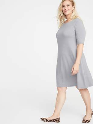 20a6f245bd8 Old Navy Jersey Elbow-Sleeve Plus-Size Swing Dress