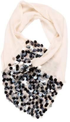 Chanel Embellished Silk Chiffon Stole