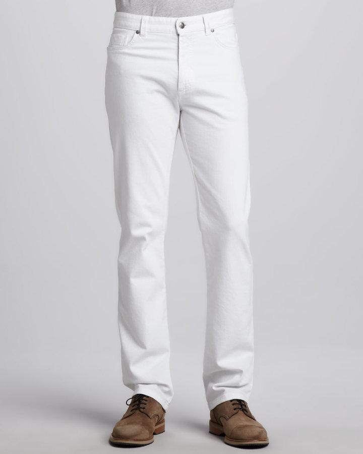 Ermenegildo Zegna White Jeans