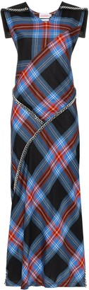 Charles Jeffrey Loverboy tartan chain-detail maxi dress