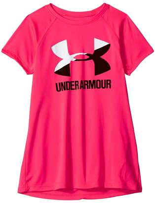 Under Armour Kids Big Logo Tee Solid Short Sleeve Girl's T Shirt