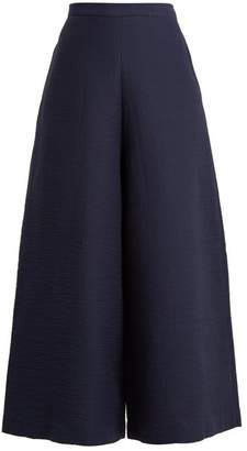 Rachel Comey Limber High Rise Wide Leg Cropped Trousers - Womens - Navy
