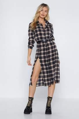 968b50bc81 Nasty Gal Only Love Can Shirt Like This Tartan Dress