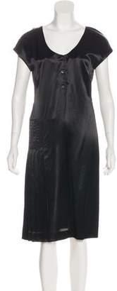 Miu Miu Short Sleeve Midi Dress