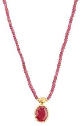 Jade Jagger Ruby & Sterling Silver Necklace - Womens - Red