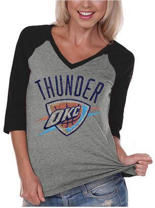 Couture Gameday Women's Oklahoma City Thunder Bling Rhinestone Raglan T-Shirt