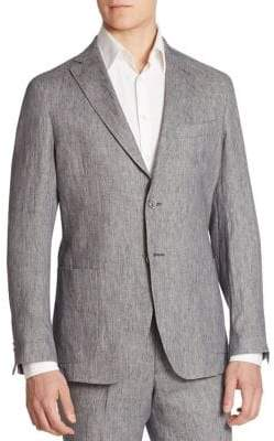 Saks Fifth Avenue COLLECTION Garment-Washed Linen Suit Jacket