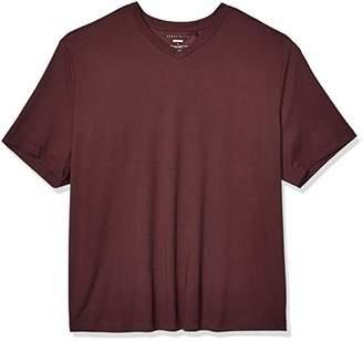 Perry Ellis Men's Big and Tall Stretch Pima V-Neck Tee Shirt