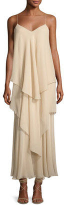 Ralph Lauren Collection Bernadine Tiered Chiffon Slip Gown, Palomino $2,950 thestylecure.com