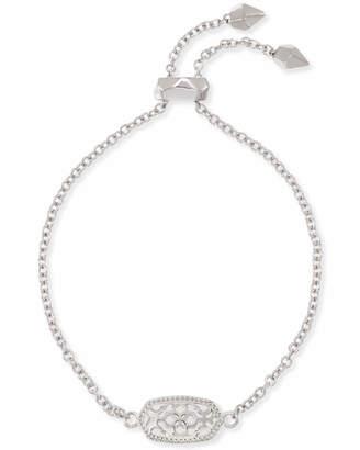 Kendra Scott Elaina Silver Adjustable Chain Bracelet in Silver Filigree Mix