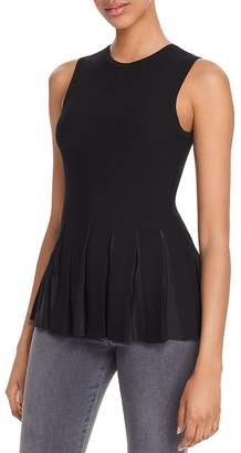 Theory SleevelessPleated-Peplum Top